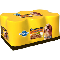 Save $1 on one multipack or six cans of Pedigree Canned Dog Food