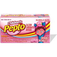 Print a coupon for $0.50 off any Pepto-Bismol Children's Product