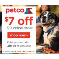 Get $7 off your next order at PETCO.com - Everything you need for your pets