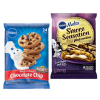 Save $1 on two packages of Pillsbury Refrigerated Cookie Dough
