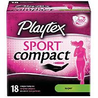 Print a coupon for $1.50 off Playtex Sport Compact Tampons