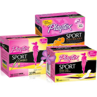 Print a coupon for $1 off one box of Playtex Sport or Gentle Glide Tampons, Pads, Liners or Combo Pack