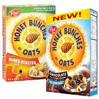 Print a coupon for $0.75 off one box of Post Honey Bunches of Oats Cereal