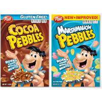 Print a coupon for $0.75 off one box of Post Pebbles Cereal
