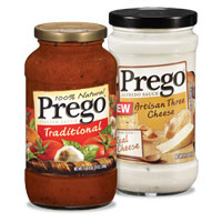 Save $0.50 on any two jars of Prego Sauce