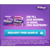 Request a free sample of Prilosec OTC to treat your frequent heartburn