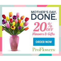 Last Minute Mother's Day Savings! Get 20% Off Mother's Day Flowers and Gifts at ProFlowers