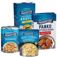 Print a coupon for $1 off any four Progresso products