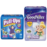 Print a coupon for $1.50 off any Huggies Pull-Ups Training Pants or Goodnites Product