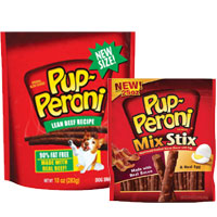 Print a coupon for $1 off any two Pup-Peroni Dog Treats