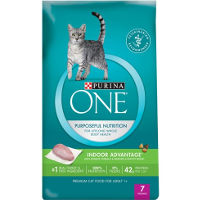 Print a coupon for $1.50 off a bag of Purina ONE Brand Dry Cat food