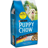 Save $1 on a bag of Purina Puppy Chow Puppy Food, 4.4lbs. or larger