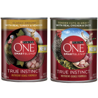 BOGO - buy one Purina ONE SmartBlend True Instinct wet dog food, get one free