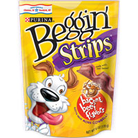 Print a coupon for $1 off two packages of Purina Beggin' Brand dog treats