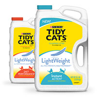 Print a coupon for $2 off Purina Tidy Cats Lightweight Cat Litter