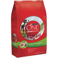 Save $3 on one bag of Purina ONE Dry Dog Food , 13 lbs or larger
