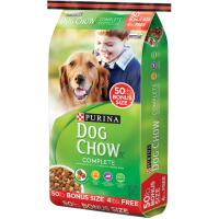 Print a coupon for $3.50 off one 50 pound bag of Purina Dog Chow Adult Dog food
