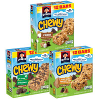 Print a coupon for $1 off three boxes of Quaker Chewy Bars