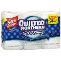 Save $1 on a 12-pk. Quilted Northern Ultra Double Roll toilet paper