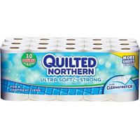 Save $2.50 on one Quilted Northern Ultra Soft and Strong Double Roll 30-pack
