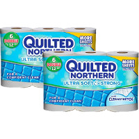 Save $1 on two packs of Quilted Northern Ultra Soft + Strong Toilet Paper, 6 double rolls or larger