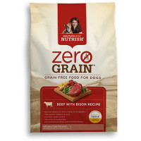 Save $3 on one bag of Rachael Ray Nutrish Zero Grain Beef and Bison Recipe Dry Food for Dogs, 3lbs or larger