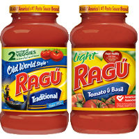 Save $1 on any two jars of Ragu Pasta Sauce