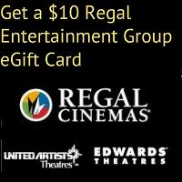 Get a $10 Regal eGift Card. Just spend $10 on your registered Visa at your Regal, Edwards or United Artists Theater