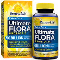 Print a coupon for $3 off Renew Life Ultimate Flora Probiotic, 30ct. or higher