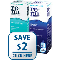 Save $2 on one bottle of Renu Fresh or Sensitive Multi-Purpose Solution, 12 oz or larger