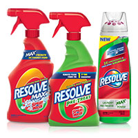 Save $0.75 on any Resolve Laundry Stain Remover product