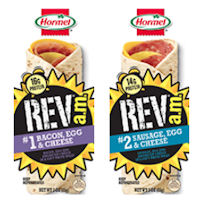 Save $0.50 on any one Hormel REV a.m. Wrap