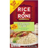 Print a coupon for $0.25 off a box of Cilantro Lime Flavored Rice-A-Roni