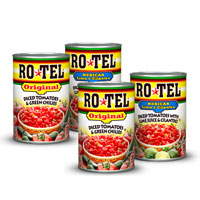 BOGO - Buy three cans of ROTEL Tomatoes, Get one Free