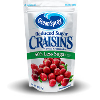 Save $0.50 on one 5oz package of Reduced Sugar Craisins Dried Cranberries
