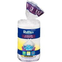 Save $0.55 on a package of Ruffies Trash Bags