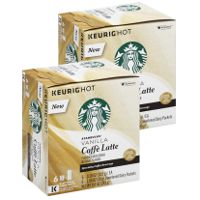 Print a coupon for $3.25 off two boxes of Starbucks Vanilla Flavored Caffe Latte K-Cups