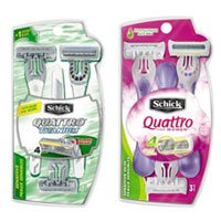 Print a coupon for $7 off two packs of Schick Disposable Razors