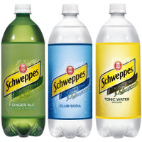 Print a coupon for $1 off any three Schweppes Mixers 1-liter bottles