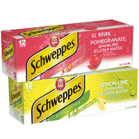 Print a coupon for $1 off any two 12-packs of Schweppes Sparkling Seltzer Water