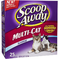 Save $2 on any Scoop Away cat litter, 25lb of larger