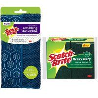 Print a coupon for $1 off any two Scotch-Brite Scrub Sponges or Scrubbing Dish Cloths
