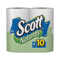 Save $0.50 on 12 rolls or more of Scott Naturals Bath Tissue
