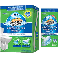 Print a coupon for $3 off one Scrubbing Bubbles Fresh Brush Starter Kit and Caddy or three Fresh Brush Refills