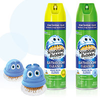 Print a coupon for $1 off two Scrubbing Bubbles Bath Cleaning products