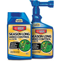 Save $2 on any Bayer Advanced Season Long Weed Control for Lawns
