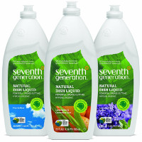 Print a coupon for $0.50 off Seventh Generation Dish Soap