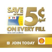 Save an extra 5 cents per Gallon of Gas with Shell Fuel Rewards