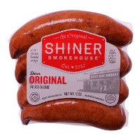 Save $1 on any two packs of Shiner Smokehouse Sausage or Beer Brats