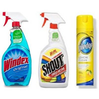 Save $0.75 on any two Shout, Windex Scrubbing Bubbles or Pledge products